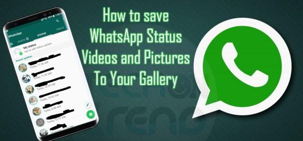 Save WhatsApp Status To Gallery