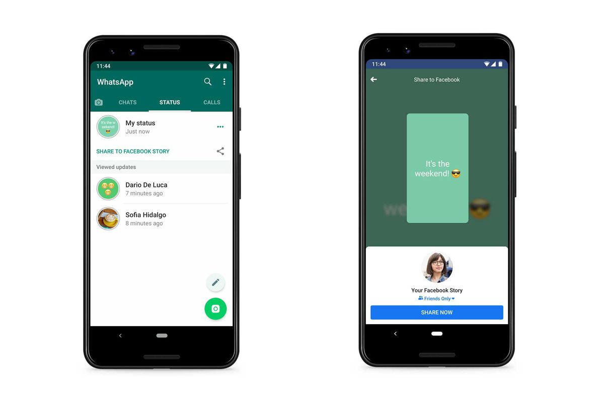 How to share WhatsApp Status on Facebook